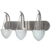 South Beach 3 Light 24 inch Brushed Nickel Vanity & Wall Wall Light