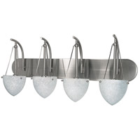South Beach 4 Light 30 inch Brushed Nickel Vanity & Wall Wall Light
