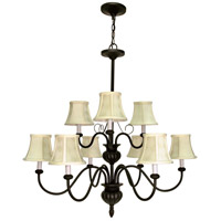 Nuvo Lighting Vanguard 9 Light Chandelier in Textured Black 60/139