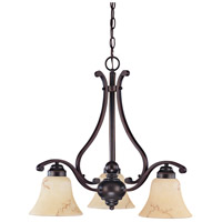 Nuvo Lighting Anastasia 3 Light Chandelier in Copper Espresso 60/1401