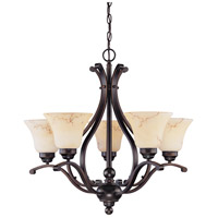 Nuvo 60/1402 Anastasia 5 Light 24 inch Copper Espresso Chandelier Ceiling Light