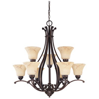 Nuvo 60/1403 Anastasia 9 Light 34 inch Copper Espresso Chandelier Ceiling Light