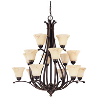 Nuvo 60/1404 Anastasia 15 Light 39 inch Copper Espresso Chandelier Ceiling Light