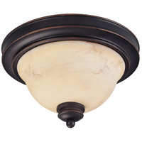 Anastasia 2 Light 11 inch Copper Espresso Flushmount Ceiling Light