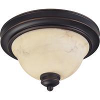 Nuvo 60/1405 Anastasia 2 Light 11 inch Copper Espresso Flush Mount Ceiling Light