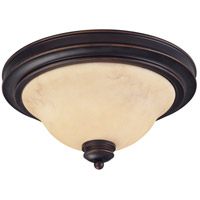 Anastasia 2 Light 13 inch Copper Espresso Flushmount Ceiling Light