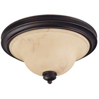 Anastasia 2 Light 15 inch Copper Espresso Flushmount Ceiling Light