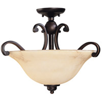 Anastasia 3 Light 19 inch Copper Espresso Semi-Flush Ceiling Light