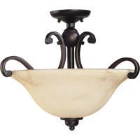 Nuvo 60/1408 Anastasia 3 Light 19 inch Copper Espresso Semi-Flush Ceiling Light