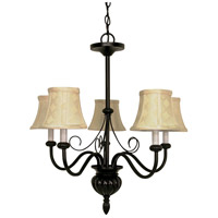 Nuvo Lighting Vanguard 5 Light Chandelier in Textured Black 60/141