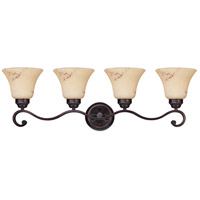 Anastasia 4 Light 33 inch Copper Espresso Vanity & Wall Wall Light