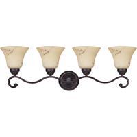 Nuvo 60/1415 Anastasia 4 Light 33 inch Copper Espresso Vanity Light Wall Light