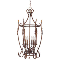 Nuvo Lighting Trellio 6 Light Caged Pendant in Autumn Gold 60/1427 photo thumbnail