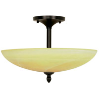 Nuvo Lighting Vanguard 3 Light Semi-Flush in Textured Black 60/144