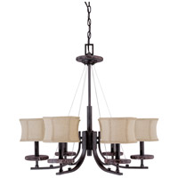 Nuvo Lighting Madison 6 Light Chandelier in Ledgestone 60/1442 photo thumbnail