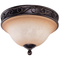Nuvo Lighting Windermere 2 Light Flushmount in Golden Umber 60/1505 photo thumbnail