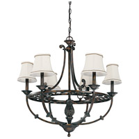 Pickford 6 Light Distressed Bronze Chandelier Ceiling Light