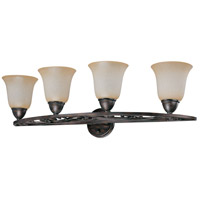 Nuvo Lighting Pickford 4 Light Vanity & Wall in Distressed Bronze 60/1573 photo thumbnail