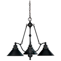 Nuvo 60/1701 Bridgeview 3 Light 27 inch Mission Dust Bronze Chandelier Ceiling Light