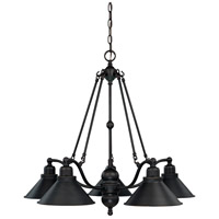 Nuvo 60/1702 Bridgeview 5 Light 30 inch Mission Dust Bronze Chandelier Ceiling Light
