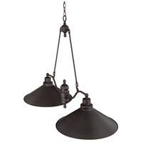 Bridgeview 2 Light 40 inch Mission Dust Bronze Trestle Ceiling Light