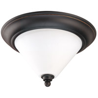 Bridgeview 2 Light 13 inch Mission Dust Bronze Flushmount Ceiling Light
