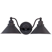 Nuvo Lighting Bridgeview 2 Light Vanity & Wall in Mission Dust Bronze 60/1711