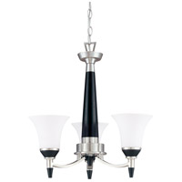 Nuvo Lighting Keen 3 Light Chandelier in Nickel & Black 60/1741