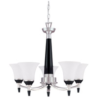 Nuvo Lighting Keen 5 Light Chandelier in Nickel & Black 60/1742