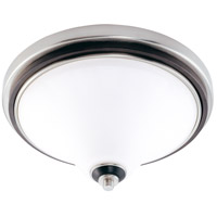 Nuvo Lighting Keen 3 Light Flushmount in Nickel & Black 60/1746 photo thumbnail