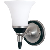 Nuvo Lighting Keen 1 Light Vanity & Wall in Nickel & black 60/1751