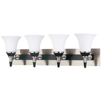 Nuvo Lighting Keen 4 Light Vanity & Wall in Nickel & black 60/1754