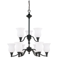 Nuvo Lighting Glenwood 9 Light Chandelier in Sudbury Bronze 60/1783