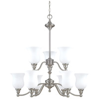 Nuvo Lighting Glenwood 9 Light Chandelier in Brushed Nickel 60/1803