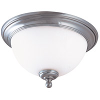 Nuvo Lighting Glenwood 1 Light Flush Mount in Brushed Nickel 60/1804