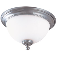 Glenwood 2 Light 13 inch Brushed Nickel Flush Mount Ceiling Light