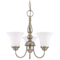 Nuvo Lighting Dupont 3 Light Chandelier in Brushed Nickel 60/1821
