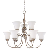 Nuvo 60/1823 Dupont 9 Light 27 inch Brushed Nickel Chandelier Ceiling Light