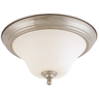 Dupont 2 Light 13 inch Brushed Nickel Flushmount Ceiling Light