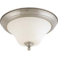 Nuvo 60/1825 Dupont 2 Light 13 inch Brushed Nickel Flushmount Ceiling Light