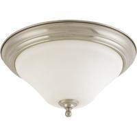 Nuvo 60/1826 Dupont 2 Light 15 inch Brushed Nickel Flushmount Ceiling Light