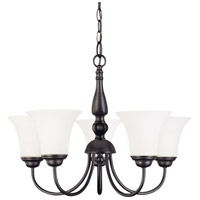 Nuvo 60/1842 Dupont 5 Light 22 inch Dark Chocolate bronz Chandelier Ceiling Light photo thumbnail