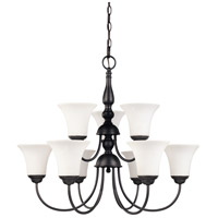 Nuvo 60/1843 Dupont 9 Light 28 inch Dark Chocolate Bronze Chandelier Ceiling Light