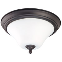 Dupont 2 Light 15 inch Dark Chocolate bronz Flushmount Ceiling Light