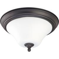 Nuvo 60/1846 Dupont 2 Light 15 inch Dark Chocolate bronz Flushmount Ceiling Light