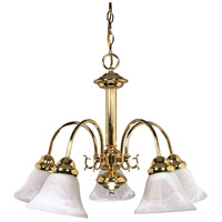 Nuvo 60/185 Ballerina 5 Light 24 inch Polished Brass Chandelier Ceiling Light