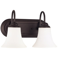 Nuvo Lighting Dupont 2 Light Vanity & Wall in Dark Chocolate bronz 60/1853