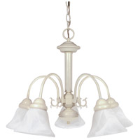 Ballerina 5 Light 24 inch Textured White Chandelier Ceiling Light