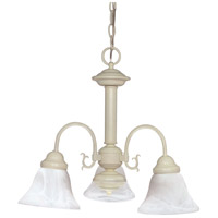 Ballerina 3 Light 20 inch Textured White Chandelier Ceiling Light
