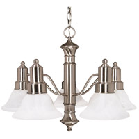 Nuvo 60/189 Gotham 5 Light 25 inch Brushed Nickel Chandelier Ceiling Light